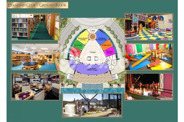 Apartemen taman Anggrek 3+1br Private Lift 13873811