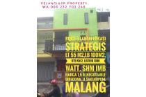 Dijual : Ruko 3 lantai strategis Jl  Saxsophone Malang. Malang
