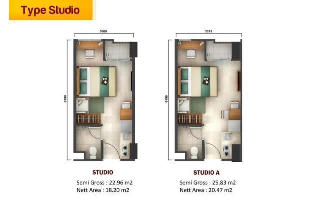 Rp288jt Apartemen Dijual