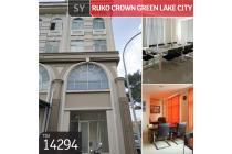 Ruko Crown Green Lake City, Cipondoh, Tangerang, 5x13m, 4 Lt,