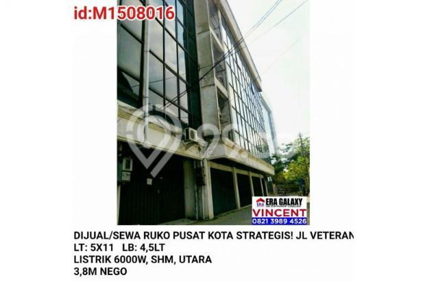 Dijual / Sewa Ruko Pusat Kota Strategis Jalan Veteran 6155202