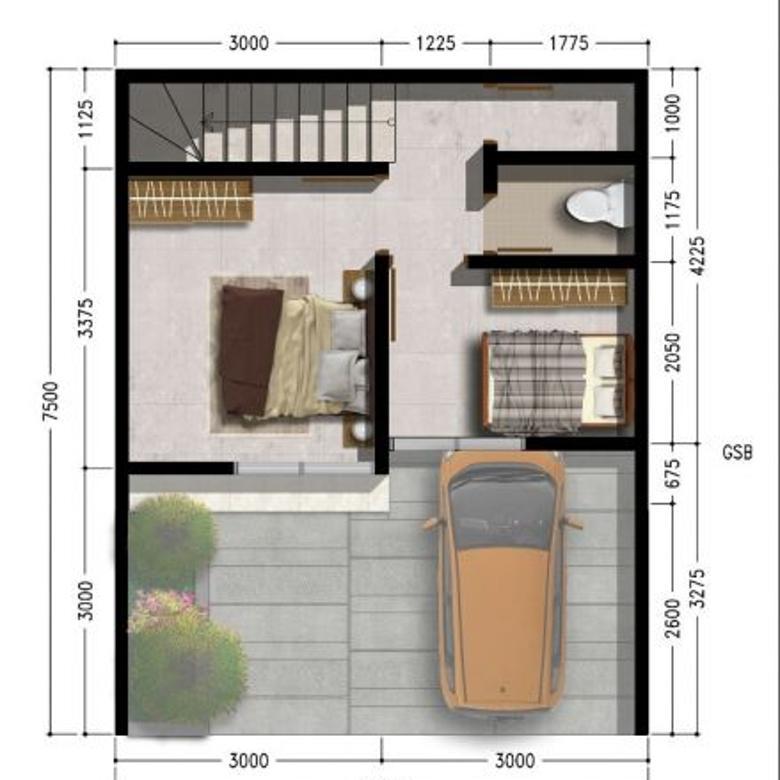 minimalis rumah cantik di karawang