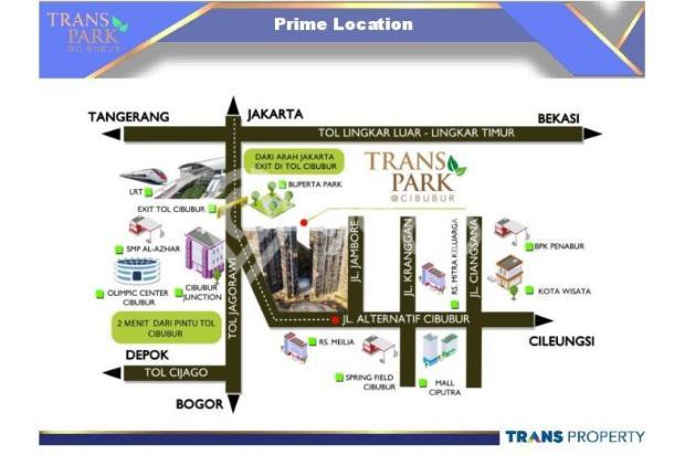 Dijual Apartemen Baru 1BR Murah Strategis di Trans Park Cibubur Depok 13024674