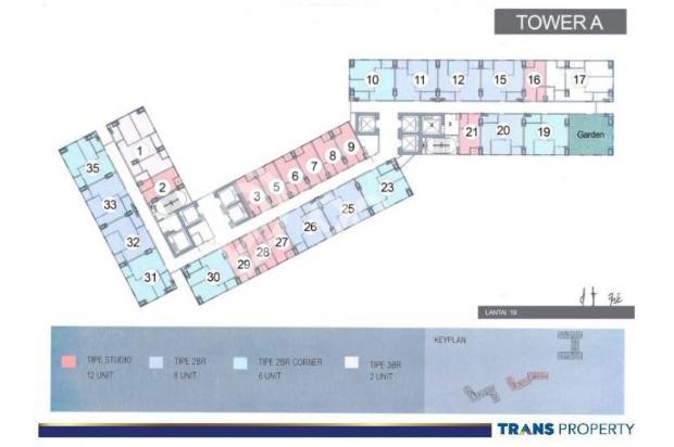 Dijual Apartemen Baru 1BR Murah Strategis di Trans Park Cibubur Depok 13024693