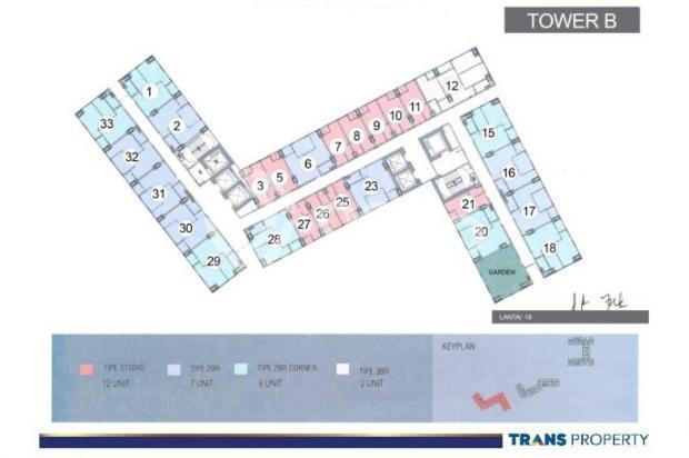 Dijual Apartemen Baru 1BR Murah Strategis di Trans Park Cibubur Depok 13024697