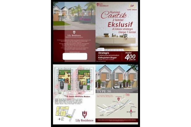Rumah 2 Lantai Dekat Stasiun Bojong Gede Kabupaten Bogor 13697829