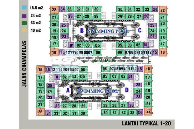 Apartemen The Jarrdin Bandung, Boking Fee saja,Cashbertahap 36x Tanpa Bunga 15020729
