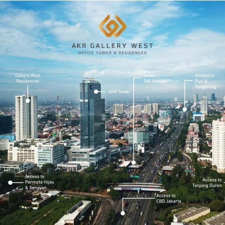 Dijual Apartemen Gallery West Residences Kebon Jeruk Jak-Bar
