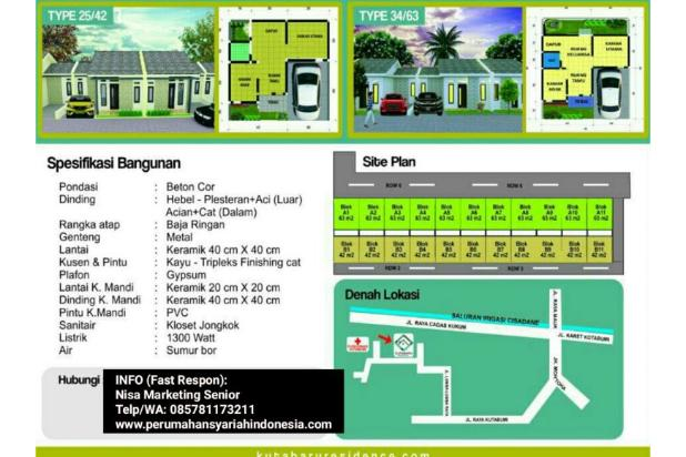 Rumah KPR Syariah Di Pasar Kemis | Dekat Stasiun Tangerang & Bandara Soetta 17935440