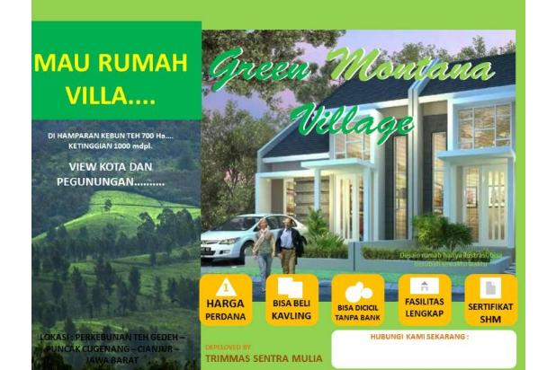Investasi Kavling Villa Puncak Cipanas, Green Montana Village SHM 16225147