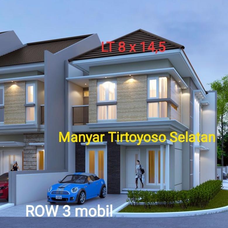 Dijual Rumah Strategis di Manyar Tirtoyoso Selatan Surabaya