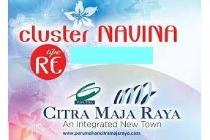 Dijual Rumah Perdana Cluster NAVINA (Tipe RE), Citra Maja Raya 2