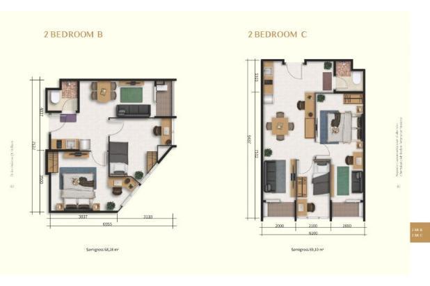 Rp793jt Apartemen Dijual