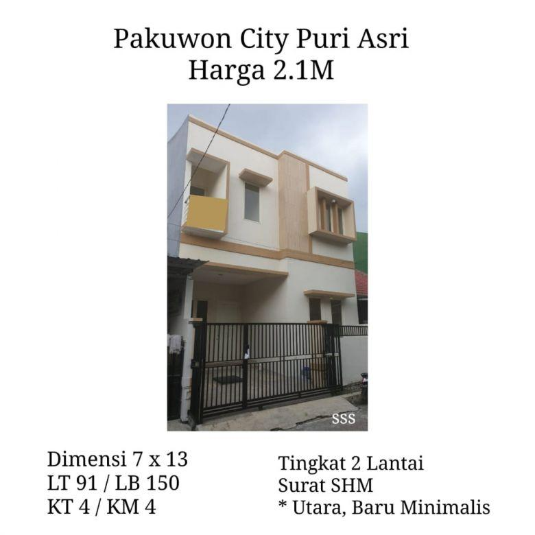 Rumah Puri Asri Pakuwon City Surabaya Timur Siap Huni