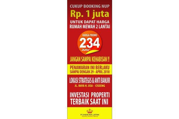 rumah murah 2 lantai dengan jaminan beli kembali naik 100% 17326863
