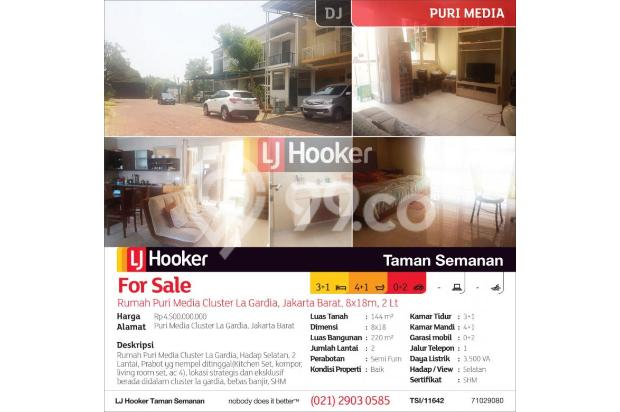 Rumah Puri Media Cluster La Gardia, Jakarta Barat, 8x18m, 2 Lt 13425194