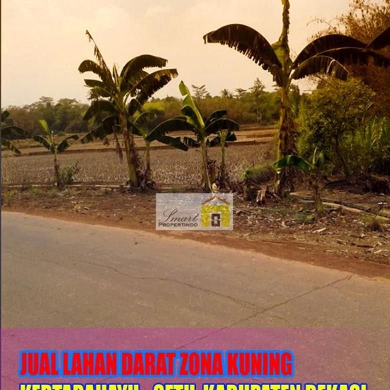 Jual Cepat Lahan Zona Kuning Pinggir Jalan Utama Kp Nawit, De