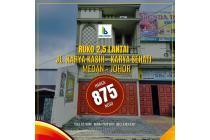 Ruko Murah 2,5 Lantai Jl Karya Kasih Karya Sehati Medan Johor