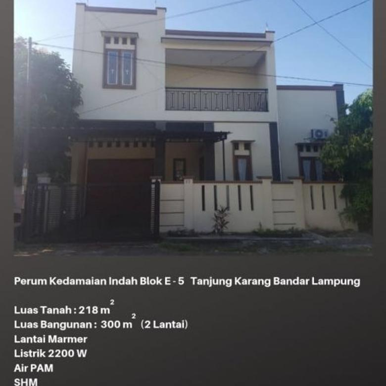 Rumah Di Sewa / Jual Lampung Strategis Dekat Pusat Kota [Tanpa
