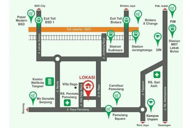 Rumah 2 Lantai Diskon DP Pamulang 12398357