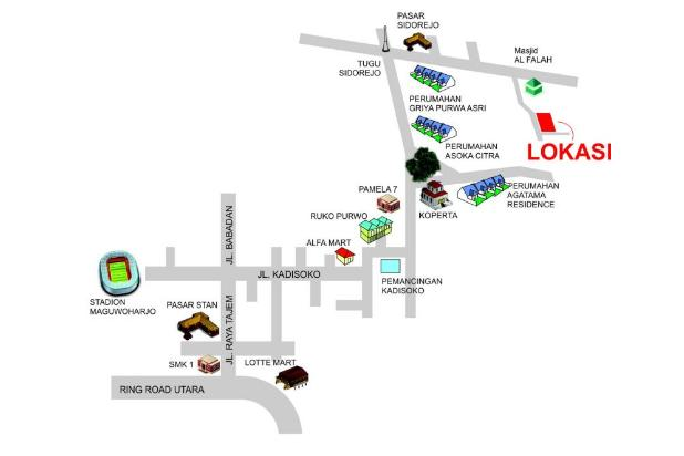 Dijual tanah purwomartani dekat perum pertamina & polda 9586071