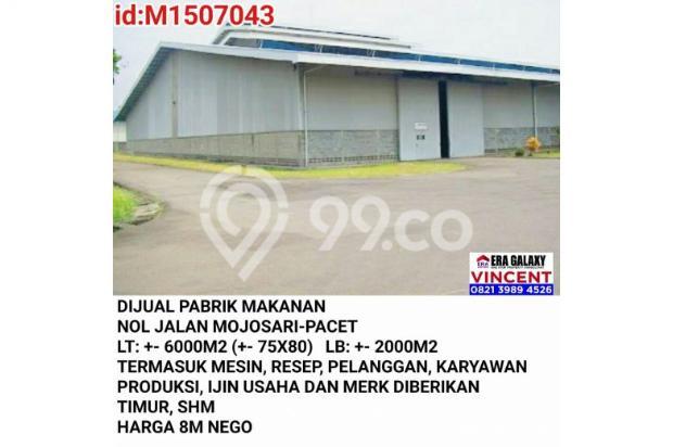 Dijual Pabrik Makanan Nol Jalan Mojosari Pacet 6155225