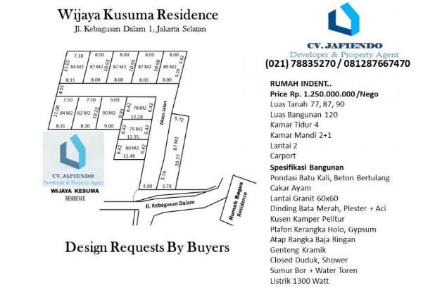 Rumah di Wijaya Kusuma Residence 2058256