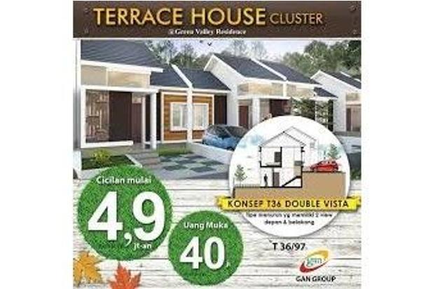 rumah terrace house, view kota bnadung, dkt rs hermina, st.yusuf & terminal