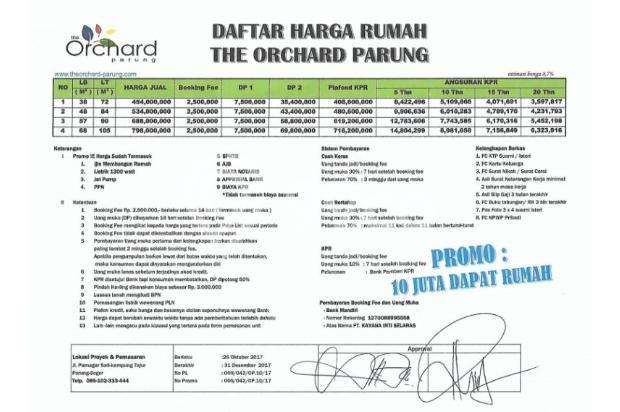 TOP Residence KPR TANPA DP, Bebas Biaya Administrasi 17267113