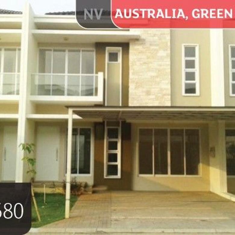 Rumah Green Lake City Cluster Australia, Tangerang, 8x15m, 2 Lt