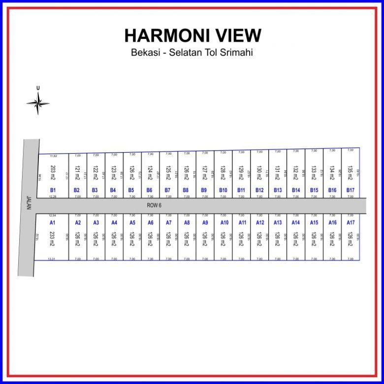 Angsuran 12 X, Non Bunga: Harmony View Bekasi, Include Fasum