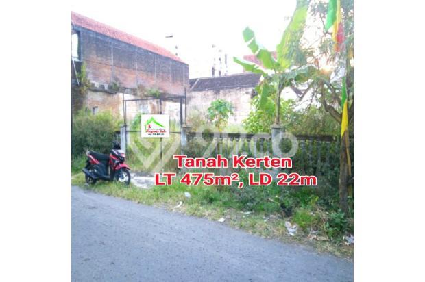 Tanah tengah kota LT 475m² di Kerten Surakarta 7340100