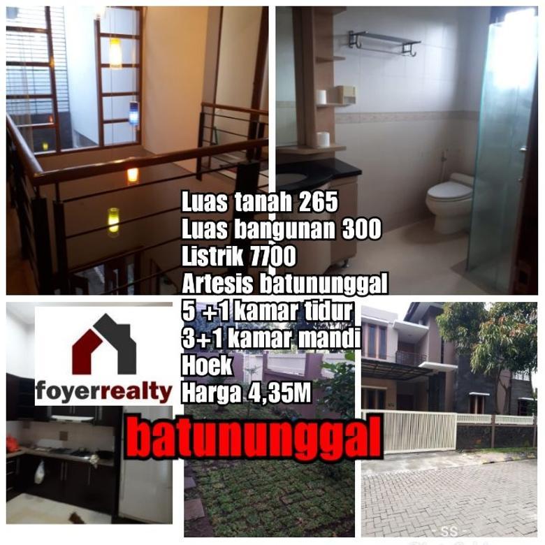 Dijual Rumah 2 Lantai Posisi HOEK di Batununggal Bandung