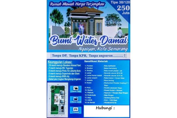Promo! Rumah Baru, Kawasan Masih Sejuk, Bonus LED / Tandon, Wates Ngaliyan 17995722