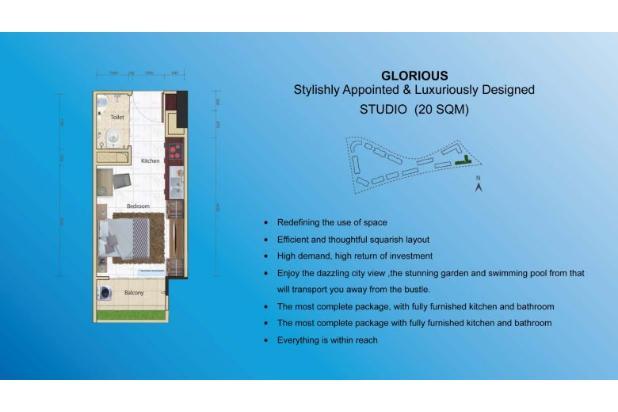 Miliki Apartemen eksklusif berkonsep Singapore Living RP.500 JUTAAN 14317362