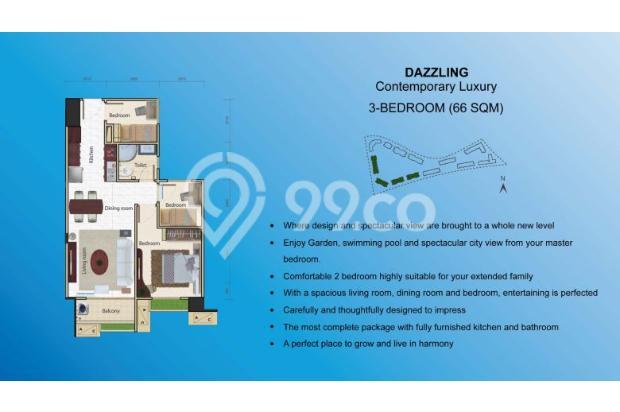 Miliki Apartemen eksklusif berkonsep Singapore Living RP.500 JUTAAN 14317366