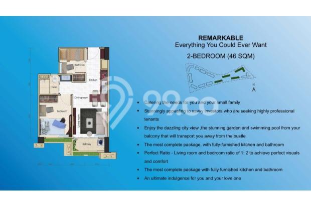 Miliki Apartemen eksklusif berkonsep Singapore Living RP.500 JUTAAN 14317363
