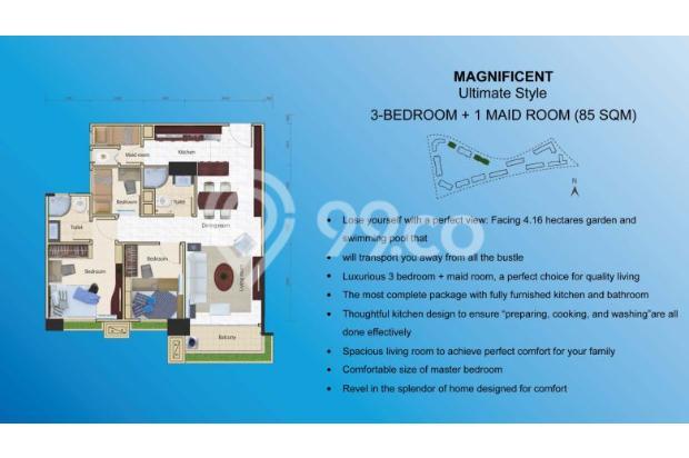 Miliki Apartemen eksklusif berkonsep Singapore Living RP.500 JUTAAN 14317368