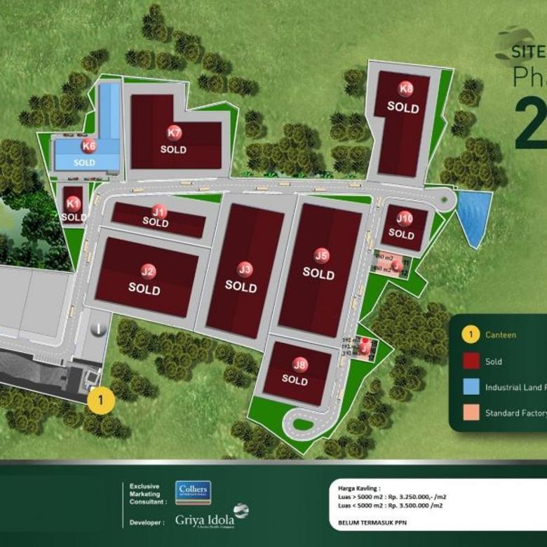 Kavling Industri Siap Bangun di Griya Idola Industrial Park