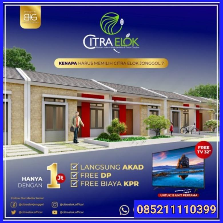 Dijual Rumah 2 KT Double Dinding Tanpa DP Citra Elok Jonggol