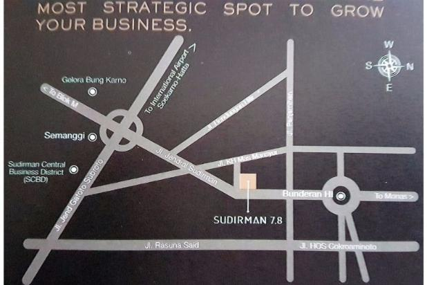 FOR SALE OFFICE SPACE TOWER SUDIRMAN 7.8 – DIRECT CONNECTION TO MRT STATION 12900238