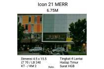 Ruko Icon 21 MERR Surabaya Super Strategis segala usaha