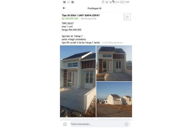 Rp407jt Rumah Dijual