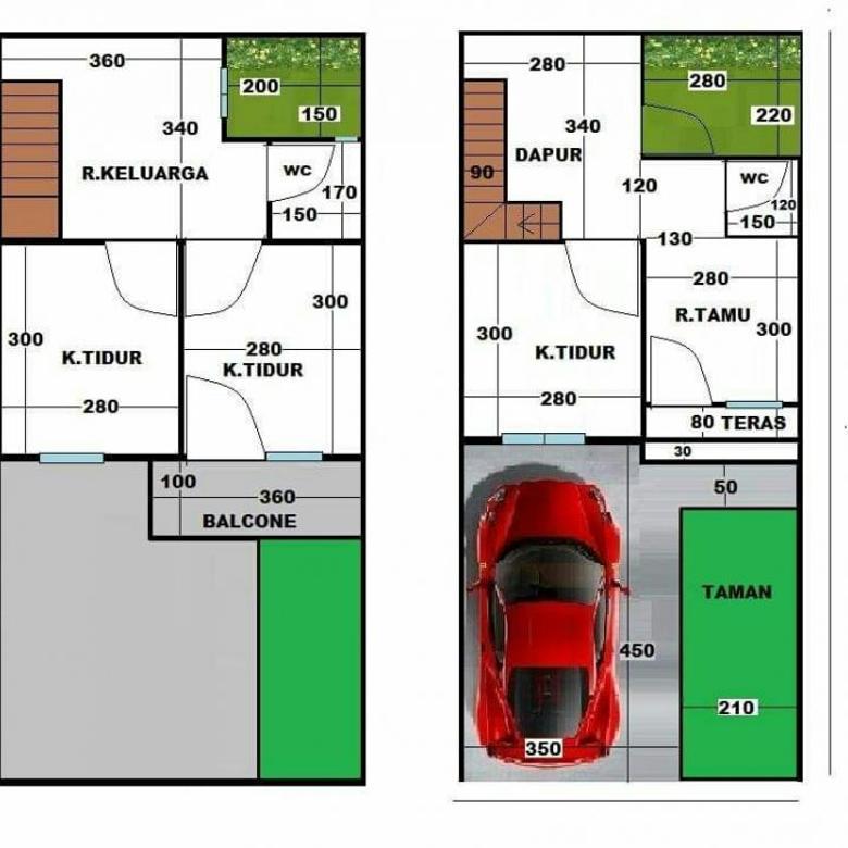 Dijual Rumah 50/70 s.d 80/100 di Penamparan, Gatsu, Denpasar