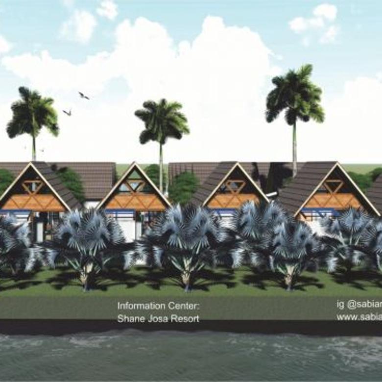 Promo Rumah Villatel Pinggir Sungai Batukaras Pangandaran 250J