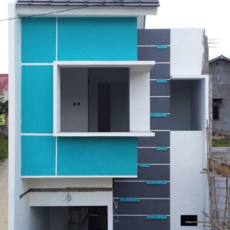 Rumah Syariah 2 lantai Harga 1 lantai di tengah kota Samarinda