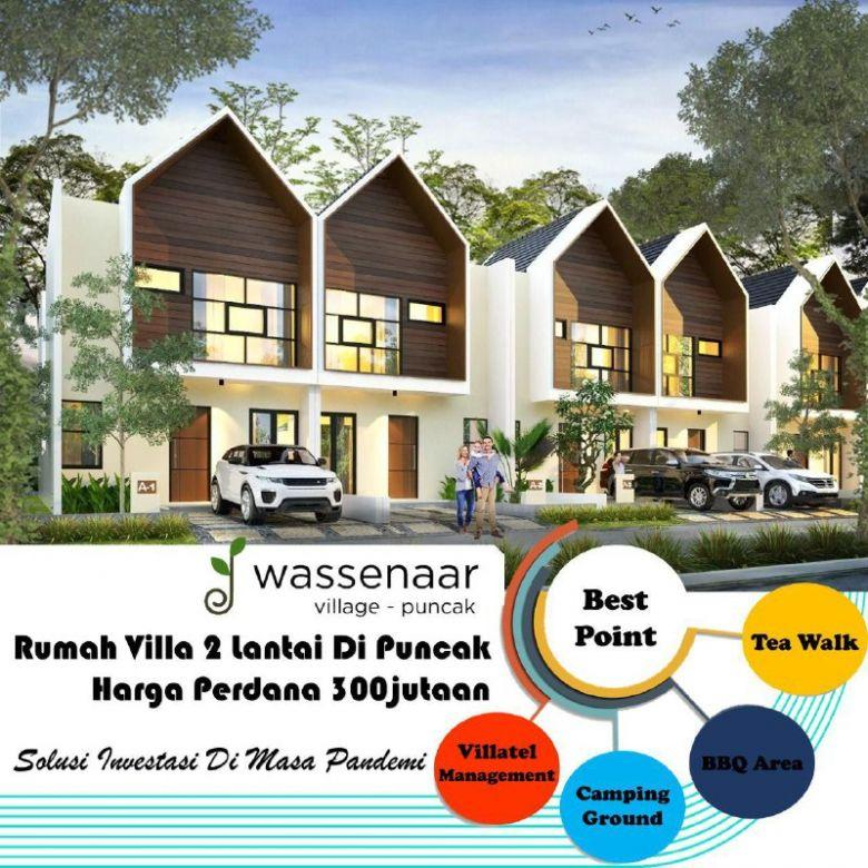 Villa Puncak Murah Harga Promo Desain 2 Lantai Free SHM
