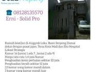 Dijual Rumah Kost Strategis di Anggrek Loka BSD Tangerang Selatan