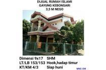 Rumah Islami Gayung Kebonsari 3,5M Nego Surabaya Selatan Siap