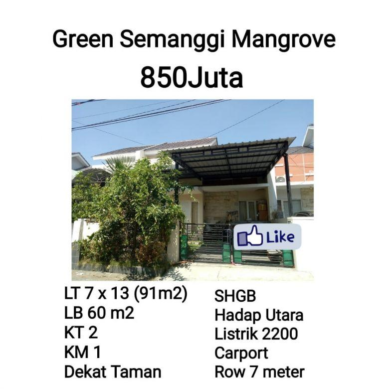 Dijual Green Semanggi Mangrove  Surabaya Timur 850jt